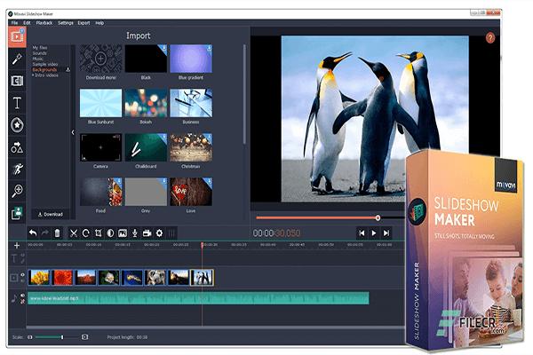 برنامج عمل فيديو من الصور مع اغنيه للكمبيوتر Movavi Slideshow Maker