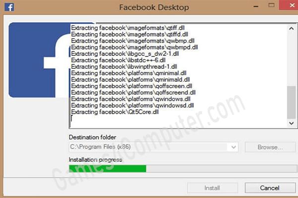 برنامج فيس بوك للكمبيوتر